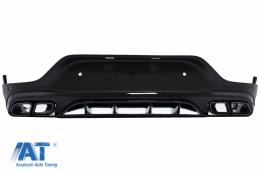 Difuzor Bara Spate cu Evacuari Negre compatibil cu Mercedes GLC Coupe Facelift C253 (2020-up) GLC3 Design Night Package - RDMBGLCC253FB