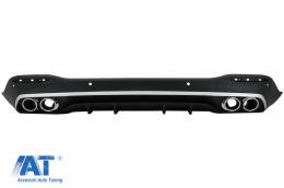 Difuzor Bara Spate cu Ornamente Evacuare Crom compatibil cu Mercedes GLE W167 SUV (2019-Up) GLS53 Design - RDMBGLEW167