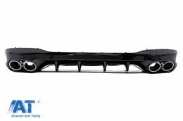 Difuzor Bara Spate cu Ornamente Evacuare compatibil cu Mercedes CLA X118 Shooting Brake C118 Coupe Sport Line (2019-up) CLA45S Design Aerodynamic Package