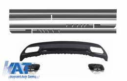Difuzor Bara Spate cu Set Stickere compatibil cu MERCEDES W176 A-Class (2012+) A-Design - CORDMBW176AMGBDGS