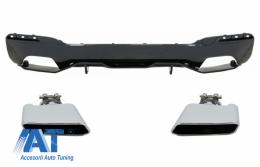 Difuzor Bara Spate cu Tobe Ornamente compatibil cu BMW Seria 5 G30 G31 (2017+) M Performance Design - CORDBMG30MPDOPBTYD