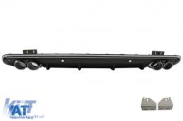 Difuzor Bara Spate Evacuare Dubla compatibil cu AUDI Q5 8R Facelift (2013-2016) Bara S Line - RDAUQ58RSQ5SL