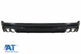 Difuzor Bara Spate Evacuare Dubla compatibil cuAudi Q5 SUV FY S-Line (2018-2020) Evacuari Crom - RDAUQ5FYSQ5S