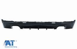 Difuzor Bara Spate Evacuare Dubla Negru Lucios compatibil cu BMW Seria 2 F22/F23 (2013-up) M Performance Design - RDBMF22MPDOB