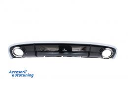 Difuzor Bara Spate si Ornamente Evacuare Audi A4 B8 Facelift (2012-up) - RDAURS4F