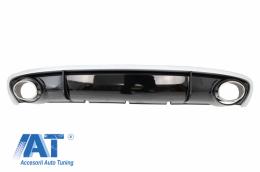 Difuzor Bara Spate si Ornamente Evacuare Audi A4 B8 Facelift (2012-2015) Sedan Avant RS4 Design - RDAURS4F