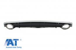 Difuzor Bara Spate si Ornamente Evacuare Audi A7 4G Facelift (2015+) RS7 Design Standard (SE) Edition - RDAUA74GF