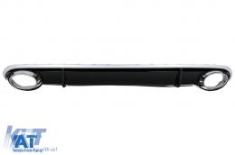 Difuzor Bara Spate si Ornamente Evacuare compatibil cu AUDI A4 B8 Pre Facelift (2007-2011) Sedan Avant RS4 Design - RDAURS4