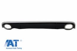 Difuzor Bara Spate si Ornamente Evacuare compatibil cu AUDI A7 4G (2010-2014) RS7 Design - RDAUA74G