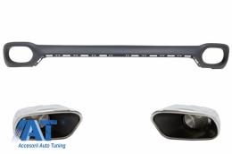 Difuzor Bara Spate si Ornamente Evacuare compatibil cu BMW X6 F16 V8 M-tech Design - RDBMX6F16