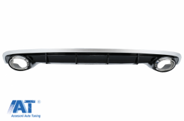 Difuzor Bara Spate si Ornamente Evacuare compatibil cu AUDI A6 4G Facelift (2015-2018) RS6 Design - RDAUA64GFRS6