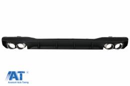 Difuzor Bara Spate si Ornamente Evacuare compatibil cu Audi A7 4K8 S-line (2018-Up) S7 RS7 Design