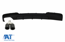 Difuzor cu Toba Ornament Evacuare compatibil cu BMW Seria 5 F10 F11 (2011-2017) M Design - CORDBMF10MPSOTHKLT
