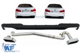 Difuzor de aer compatibil cu BMW Seria 5 F10 (2011-2017) cu Sistem Evacuare M-Technik 550i Design - CORDBMF10M5DES