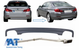 Difuzor de aer compatibil cu BMW Seria 5 F10 (2011-2017) cu Sistem Evacuare M 550i Design - CORDBMF10LCIDOES