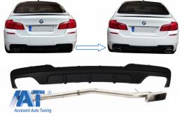 Difuzor de aer compatibil cu BMW Seria 5 F10 (2011-2017) cu sistem evacuare M-Performance 550i Design - CORDBMF10MPDOTHES