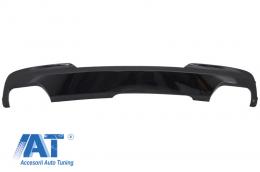 Difuzor de aer cu evacuare dubla negru lucios compatibil cu BMW F10 F11 Seria 5 (2011-2017) M-Technik 550i Design - RDBMF10M5B