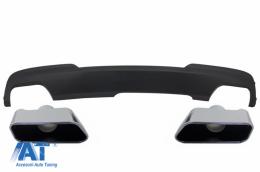 Difuzor de aer cu Evacuare Dubla si Ornamente BMW F10 F11 Seria 5 (2011-2017) M-Technik 550i Design - CORDBMF10M5D06