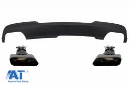 Difuzor de aer cu Evacuare Dubla si Ornamente compatibil cu BMW F10 F11 Seria 5 (2011-2017) M-Technik 550i Design - CORDBMF10M5D047B