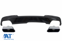 Difuzor de aer Negru cu Ornamente Evacuare compatibil cu BMW Seria 5 F10 F11 (2011-2017) M-Technik 550i Design - CORDBMF10M5B