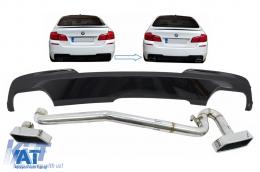 Difuzor de aer negru lucios compatibil cu BMW Seria 5 F10 (2011-2017) cu sistem evacuare M-Technik 550i Design - CORDBMF10M5BES
