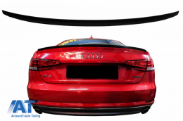 Eleron Portbagaj compatibil cu AUDI A4 B9 (2016-Up) Negru Lucios