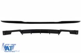 Eleron Portbagaj cu Difuzor Bara Spate Evacuare Dubla compatibil cu BMW Seria 3 F30 (2011-2019) M4 CSL M Performance Design Negru Lucios - COTSBMF30M4CSPBRD