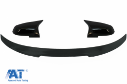Eleron Portbagaj si Capace oglinzi compatibil cu BMW 4 Series Gran Coupe F36 (2014-03.2019) M4 CSL Design Negru Lucios - COTSBMF36M4CSPBB
