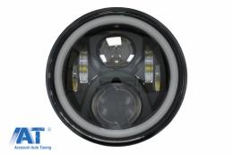 Far pentru Motocicleta 75W 7 inch IP67 H4 LED compatibil cu Honda CB400 CB500 CB1300 / Hornet 250 / Hornet 600 Hornet 900 / VTR250 VTEC400 - HLU7INCHMOTO4