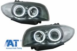 Faruri Angel Eyes compatibil cu BMW Seria 1 E87 E81 E82 E88 (2004-2011) Negru - SWB14ADB