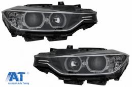 Faruri Angel Eyes compatibil cu BMW Seria 3 F30 F31 (2011-2015) Xenon look - HLBMF30WX