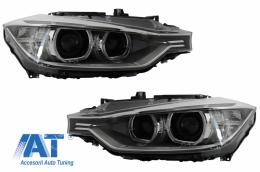 Faruri Bi-Xenon LED Angel Eyes BMW Seria 3 F30 (2011-up) - HLBMF30