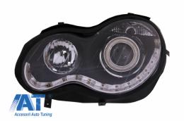 Faruri Black Angel Eyes compatibil cu MERCEDES C-Class W203 (2000-2007) Partea Stanga Negru - PXN2-216L