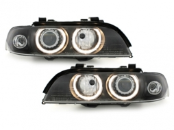 Faruri BMW seria 5  E39 95-03  pozitie angeleyes  negru - SWB07DBHID