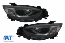 Faruri compatibil cu Mazda CX5 Prefacelift (2011-2015) Black True DRL Xenon - HLMACX5CE