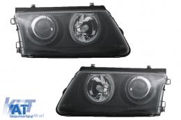 Faruri compatibil cu VW Passat 3B 96-00  pozitie angeleyes  negru