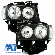 Faruri compatibil cu VW T4 97-03  pozitie angeleyes  negru - SWV26DB
