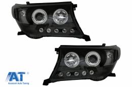 Faruri compatibile cu TOYOTA Land Cruiser FJ200 (2008-2012) Facelift 2012 Look Negru - HLTOLC200B