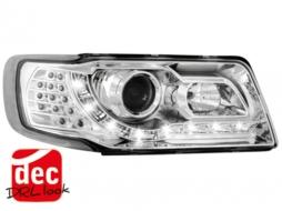 Faruri DAYLINE Audi 100 optic 4C DRL crom- - SWA12GXL