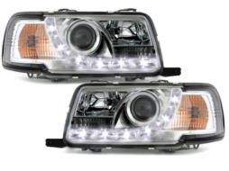 Faruri DAYLINE AUDI 80 B4 Limousine /Avant (1991-1994) LED DRL Look Crom - SWA05GX
