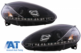 Faruri DAYLINE compatibil cu FIAT Grande Punto 08-09negru - SWFI06GXB/3456785