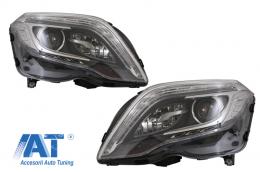 Faruri Facelift LED DRL compatibil cu Mercedes GLK X204 (2013-2015) - HLMBX204