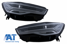 Faruri Full LED compatibil cu Audi A6 4G C7 (2011-2018) Facelift Matrix Design Semnalizare Dinamica Secventiala - HLAUA64G
