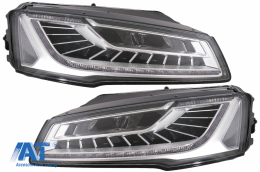 Faruri Full LED compatibil cu Audi A8 Sedan Facelift (4H, D4) (2014-2017) Facelift Matrix Design - HLAUA8D4LED
