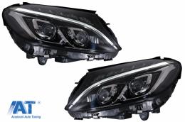 Faruri Full LED compatibil cu Mercedes Benz C-Class W205 / S205 / A205 / C205 (2014-2018)