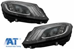 Faruri Full LED compatibil cu MERCEDES S-Class W222 Maybach X222 (2013-2017) Facelift Design - HLMBW222FLWOCU