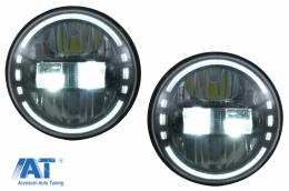 Faruri Full LED CREE Dublu Proiector compatibil cu Jeep Wrangler JK TJ LJ Land ROVER Defender Mercedes W463 - HLU7INCHKKB