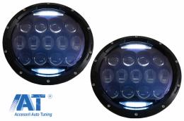 Faruri Full LED CREE Dublu Proiector Halo DRL compatibil cu Jeep Wrangler TJ & JK (1997-2018) - HLU7INCHLN1