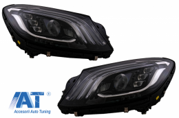 Faruri Full LED Semnalizare Dinamica compatibil cu MERCEDES S-Class W222 Facelift Design OEM - HLMBW222FLOEM