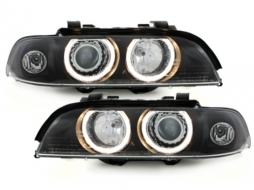 Faruri LED Angel Eyes compatibil cu BMW Seria 5 (1995-2003) Xenon Look - SWB07DB